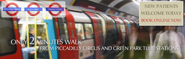 2 minutes from piccadilly circus and green park tube lines